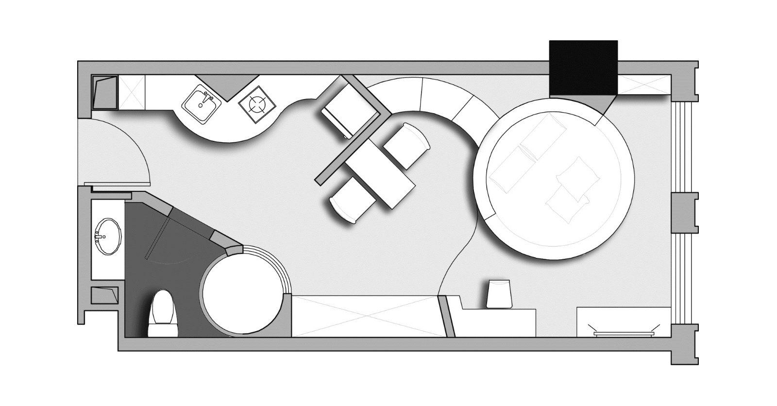 中国古代房屋室内手绘平面图